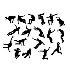 jumping sport vector image