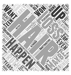 Laser therapy hair Word Cloud Concept vector