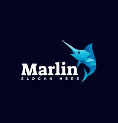 logo marlin gradient colorful style vector image