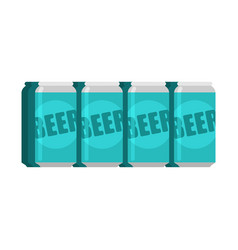 lot beer packaging aluminum can alcohol vector image