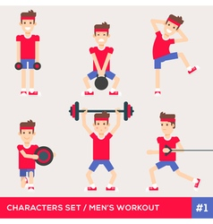 men workout set1 vector image