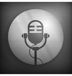 Microphone icons in gray vector image
