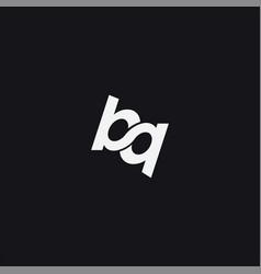 monogram infinity letter bq logo icon vector image