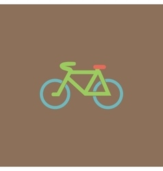 Mountain bike flat icon vector
