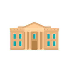 Museum courthouse icon flat style vector