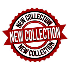 new collection label or sticker vector image