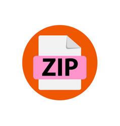 Orange icon zip file format extensions vector