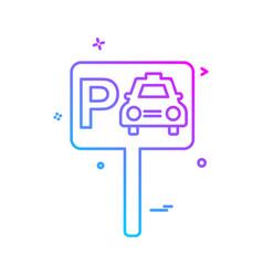 parking icon design vector image