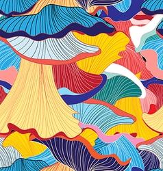 pattern mushrooms vector image