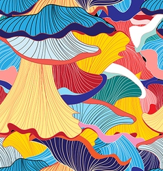 pattern of mushrooms vector image
