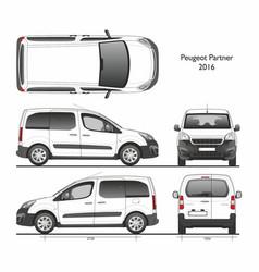 Peugeot partner l1 2016 professional van vector