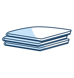 Pile of folded clothes vector