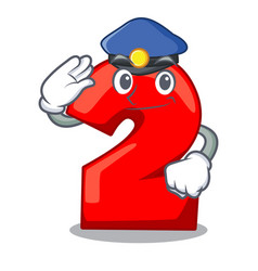 Police cartoon paper number two on letter vector