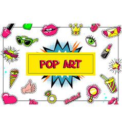 pop art fashion stickers concept vector image
