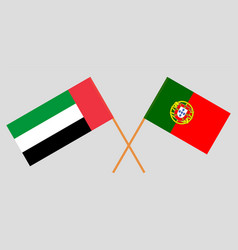 Portuguese and uae flags vector