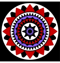 Red purple white and black mandala vector