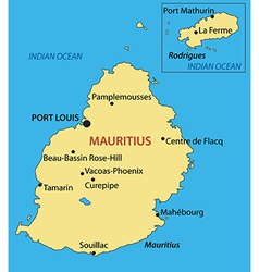 Republic of Mauritius - map vector image