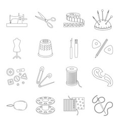Sea animals set icons in line style big vector