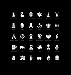 Simple icons mahavir jayanti vector