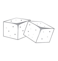 Sugar cubes icon vector