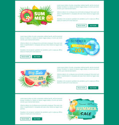 Summer sale discounts poster vector