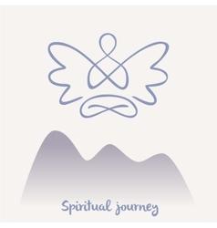 Symbol of yoga meditation spirituality vector