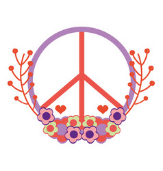 Symbol peace and love icon vector