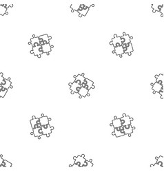 teamwork solution puzzle pattern seamless vector image