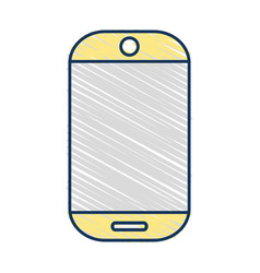technology smartphone electronic to call and speak vector image
