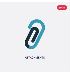 Two color attachments icon from tools and vector