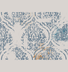 Vintage damask ornament floral decoration pastel vector