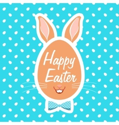 with easter eggs vector image