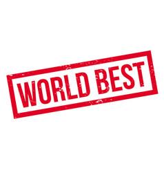world best rubber stamp vector image