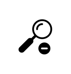 Zoom out or magnifying glass glyph icon vector