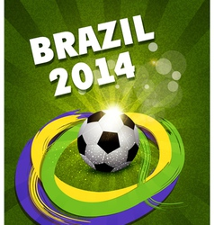 background on the football theme vector image