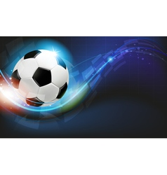 Ball on blue background vector image