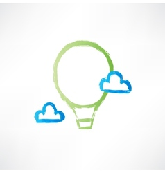 balloon in the clouds icon vector image