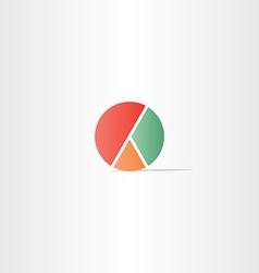 diagram pie symbol design vector image