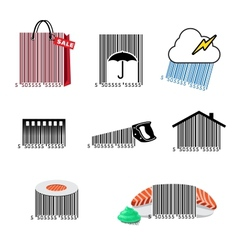 Barcode set icons vector image