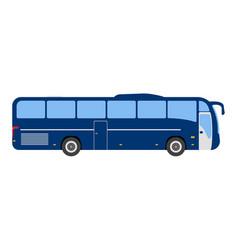 bus flat icon and logo cartoon vector image vector image