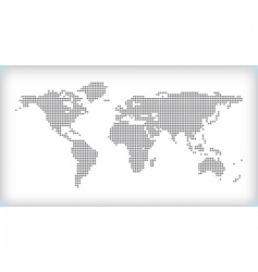 dotted map vector image vector image
