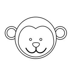 figure face monkey icon vector image vector image