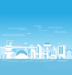 Futuristic white city vector image