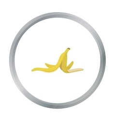 Peel of banana icon in cartoon style isolated on vector image
