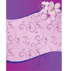 violet flowers wave blank vector image