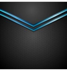 Blue black contrast arrows corporate design vector image
