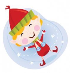 cartoon Christmas elf vector image vector image