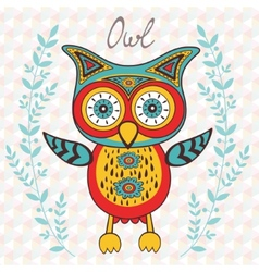 Cute owl character vector