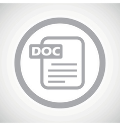 Grey DOC file sign icon vector image