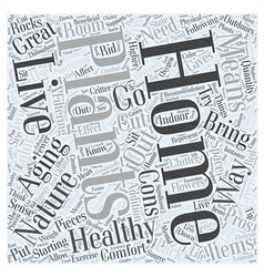 Healthy Aging Starting in your Home Word Cloud vector image vector image